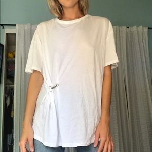 Zara Oversized Tee W/ Hook Feature